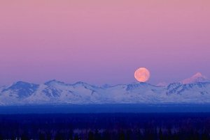 Full Moon over Alaska Range